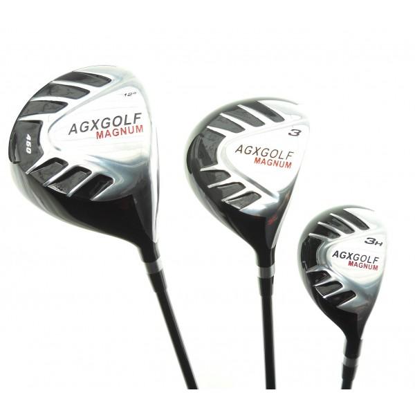 agxgolf senior mens magnum series complete golf club set 460 driver 3 wood hybrid stand bag. Black Bedroom Furniture Sets. Home Design Ideas