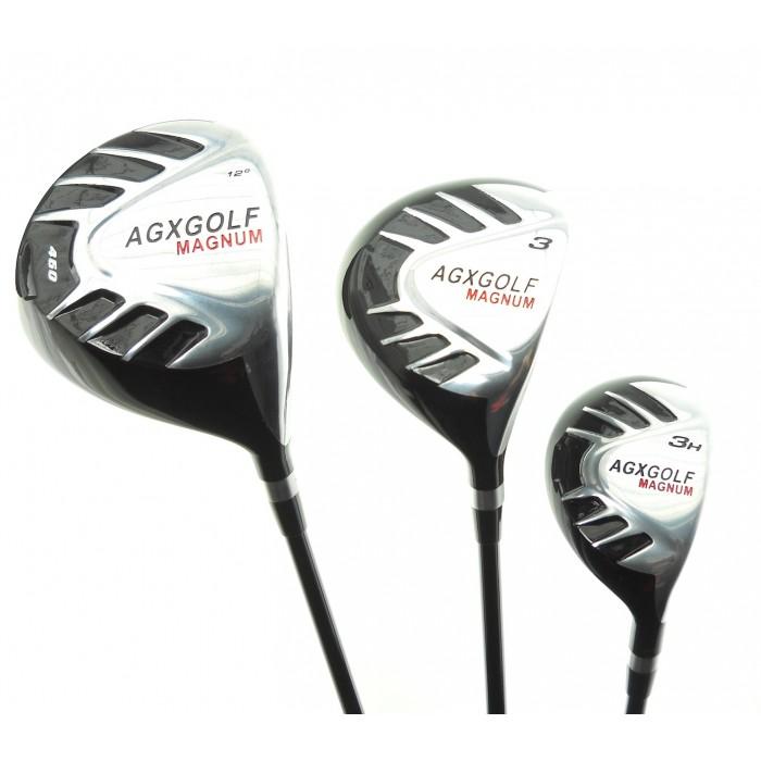Senior Mens Tour Magnum Golf Club Set 460 Driver Wood Hybrid Stand