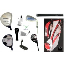 AGXGOLF PRESTIGE MENS SENIOR EDITION COMPLETE GOLF CLUB SET w/STAND BAG & PUTTER: BUILT in the USA!