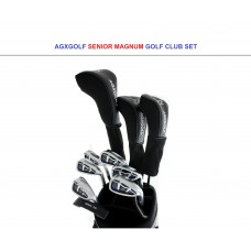 AGXGOLF SENIOR MEN'S MAGNUM SERIES COMPLETE GOLF CLUB SET 460 DRIVER+3 WOOD+HYBRID+ PUTTER+5-9 IRONS + PITCHING WEDGE:  ALL SIZES wBAG OPTION: BUILT IN THE U.S.A!!
