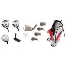 SENIOR EXECUTIVE TECH SERIES GOLF CLUB SET w/DRIVER+BONUS 7 WOOD+STAND BAG+PUTTER