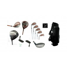 MENS LEFT HAND SENIOR TOUR MODEL EXECUTIVE GOLF CLUB SET wDRIVER + FAIRWAY WOOD + UTILITY WD + IRONS + STAND BAG + PUTTER: ALL SIZES IN STOCK + BUILT IN THE USA