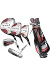 MENS 18pc TFX EDITION GOLF CLUBS wSTAND BAG+460cc DRIVER+3&4 WOODS+4&5 HYBRIDS+6-PW+PUTTER