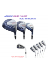 AGXGOLF LADIES MAGNUM GRAPHITE SET DR, 3WD, 3 HY + 5,6,7,8 & 9+PW CHOOSE LENGTH