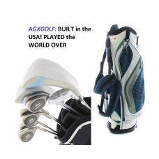 LADIES ARIES COMPLETE GOLF CLUB SET w/DRIVER+HYBRID+IRONS+STAND BAG+PUTTER: RIGHT HAND: BUILT in the USA!!