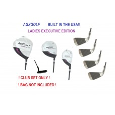 AGXGOLF LADIES EXECUTIVE EDITION COMPLETE GOLF CLUB SET wPUTTER & HEAD COVERS: PETITE, REGULAR, OR TALL LENGTH BUILT IN THE USA
