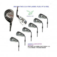 LADIES LEFT or RIGHT HAND MAGNUM NXT IRON SET w/ HYBRID UTILITY LONG IRON + 5, 6, 7, 8 & 9 IRONS + PITCHING WEDGE; PETITE, REGULAR & TALL LENGTHS: BUILT IN THE USA by AGXGOLF