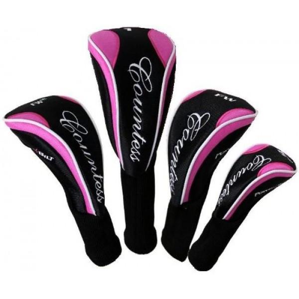 Powerbilt Ladies Pink Countess All Graphite Golf Club Set