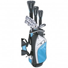 LADIES POWERBILT ALL GRAPHITE LEFT or RIGHT COMPLETE GOLF CLUB SET w/DRIVER + HYBRID + BAG + PUTTER + 2 HEAD COVERS: PETITE, REGULAR OR TALL LENGTHS