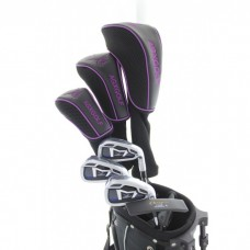 NEW AGXGOLF LADIES LAVENDER GOLF SET w/BAG+DRIVER+HYBRID+IRONS+PW+PUTTER