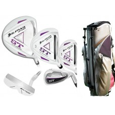 LADIES LEFT HAND TALL ORLIMAR ST LAVENDER EDITION FULL SET (GRAPHITE SHAFT WOODS & HYBRIDS) + STAND BAG