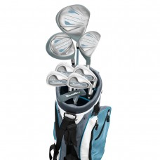 LADIES TOURBILT COMPLETE GOLF CLUB SET w/BAG+460 DRIVER+3 WOOD+IRONS+PUTTER. ALL SIZES