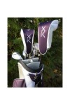 LADIES XV LAVENDER GOLF CLUB SET w/OPTIONAL BAG; FREE PUTTER & HEAD COVERS RIGHT: PETITE OR REG