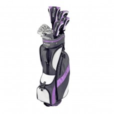 LADIES OPTIVA LAVENDER ALL GRAPHITE GOLF CLUB SET w/PUTTER RIGHT HAND PETITE, REGULAR or TALL LENGTH