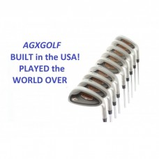 AGXGOLF MEN'S P-FORCE IRON SET 3-PW + BONUS SAND WEDGE: STAINLESS STEEL SHAFTS