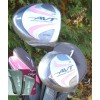 AGXGOLF GIRL'S EDITION AVT PINK GOLF CLUB SET w/STAND BAG & FREE PUTTER: TWEEN, TEEN & TALL SIZES