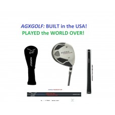 AGXGOLF MEN'S  #3 FAIRWAY WOOD 15 DEGREE: LEFT or RIGHT HAND: CHOOSE LENGTH & FLEX + GRAPHITE SHAFT + HEAD COVER