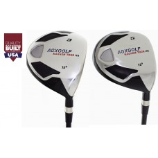 MEN'S LEFT or RIGHT HAND MAGNUM XS EDITION FAIRWAY WOODS SET: #3 & #5 FAIRWAY WOODS with GRAPHITE SHAFTS..FREE HEAD COVERS: CHOOSE FLEX & LENGTH