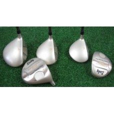 "GIRLS ""LADY CALCUTTA"" SELECT EDITION: DRIVER AND FAIRWAY WOODS; GRAPHITE w/HEAD COVERS"