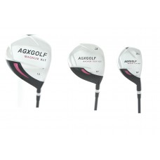 LADIES MAGNUM XLT 3 PIECE WOODS SET: DRIVER, 3 WOOD & 3 HYBRID IRON. RIGHT HAND, AVAILABLE IN ALL TALL, PETITE, & REGULAR LENGTH.
