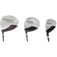 LEFT HAND LADIES MAGNUM XLT 3 PIECE WOODS SET: DRIVER, 3 WOOD & 3 HYBRID IRON.  AVAILABLE IN ALL TALL, PETITE, & REGULAR LENGTH.