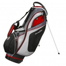 MENS POWERBILT DELUX FULL SIZE GOLF STAND BAG w14 WAY TOP + DUAL STRAP & RAIN COVER