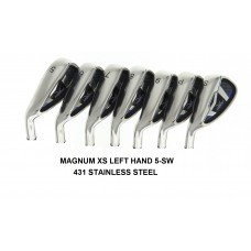 AGXGOLF MAGNUM  XS IRON HEADS: SET TOTAL OF SEVEN HEADS 5-SW STAINLESS STEEL .370 HOSEL.  AVAILABLE IN LEFT HAND & RIGHT HAND!