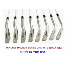 AGXGOLF MEN'S LOTUS SERIES IRONS CLUB SET 4-SW RIGHT HAND ALL SIZES; 3 IRON OPTION, GRAPHITE OPTION
