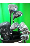 LADIES LEFT AGXGOLF GRAPHITE / STEEL GOLF CLUB SET+FREE PUTTER+2 HEAD COVERS
